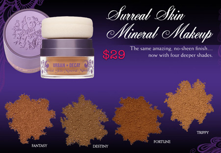 urban decay fall 2009 surreal skin mineral makeup