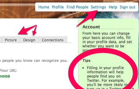 Filling out your settings can help people find you