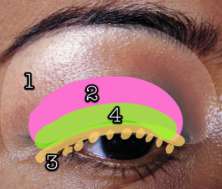 mac cosmetics tutorial fashion week look eyemap 1