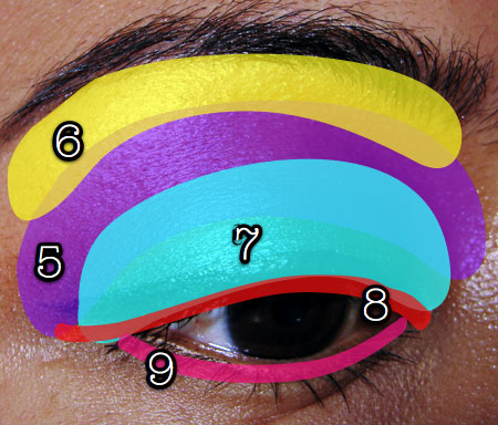 mac cosmetics tutorial fashion week look eyemap 2