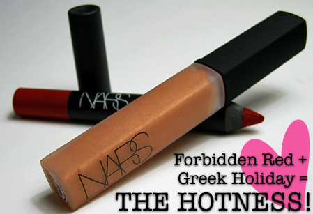 nars forbidden red velvet matte lip pencil greek holiday gloss top