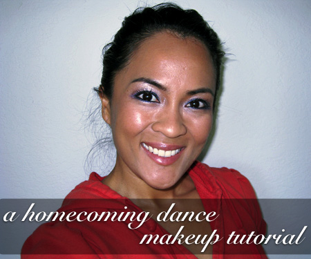 Homecoming makeup blue eyes