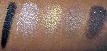 clarins palazzo doro collection swatches eyeshadows with flash