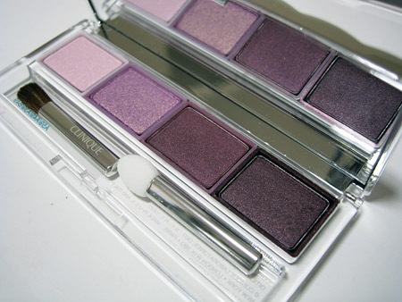 Clinique Black Tie Violets colour surge eye shadow quad