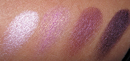 Clinique Black Tie Violets swatches-eye