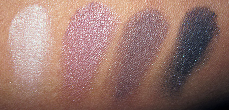 Lorac Silver Screen Palette Swatches cool shadows