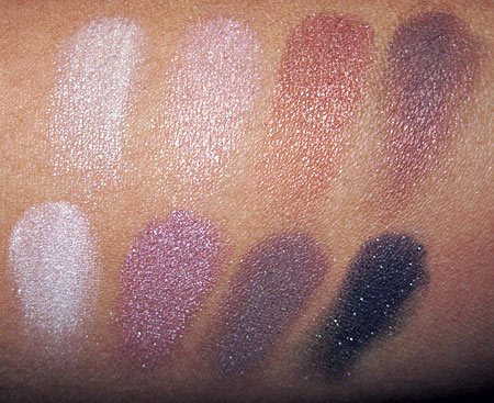 Lorac Silver Screen Palette Swatches eyeshadows all