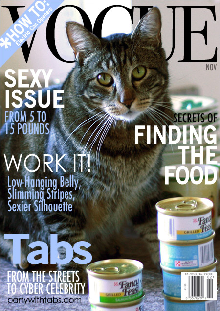Tabs on the cover of Vogue