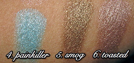 urban decay show pony swatches 4 thru 6
