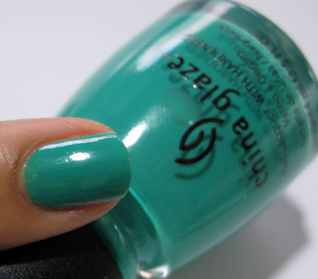 China Glaze Up and Away Swatches Review Photos Four Leaf Clover 7