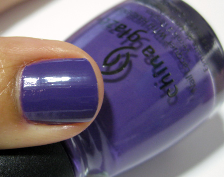 China Glaze Up and Away Swatches Review Photos Grape Pop 1