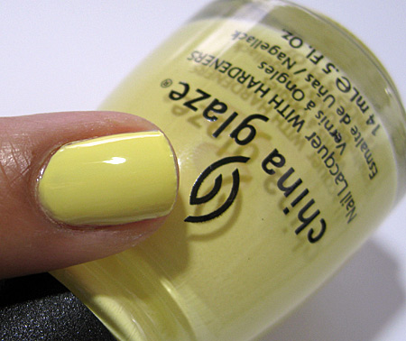 China Glaze Up and Away Swatches Review Photos Lemon Fizz 12