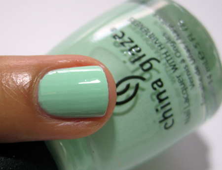 China Glaze Up and Away Swatches Review Photos Re Fresh Mint 8