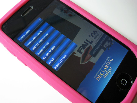 Lancome Declaring Indigo iPhone app