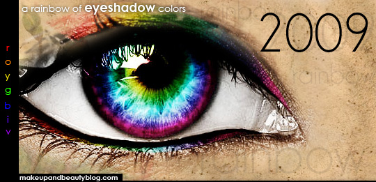 2009's rainbow of eyeshadow colors