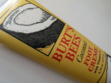 burts bees coconut foot creme review