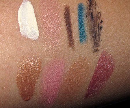 mac to the beach face of the day swatches