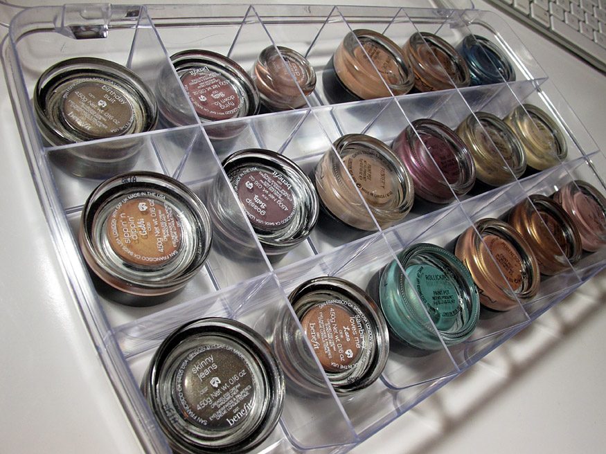 Makeup Organization Ideas MAC Paint Pots Pigments Or