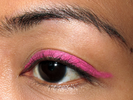 tokidoki makeup pink liner tutorial eye step 1