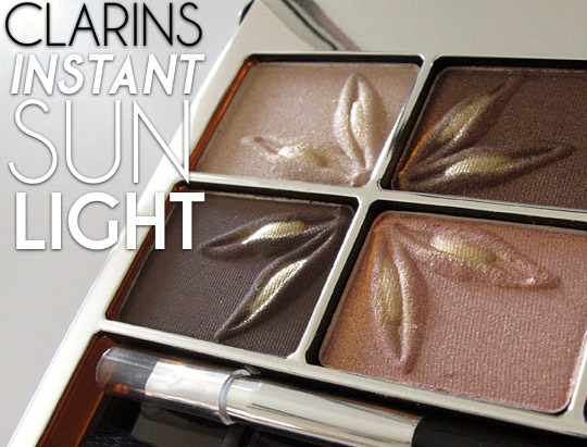 Clarins Instant Sun Light Summer Colour Collection Eye Quartet and Liner Palette review