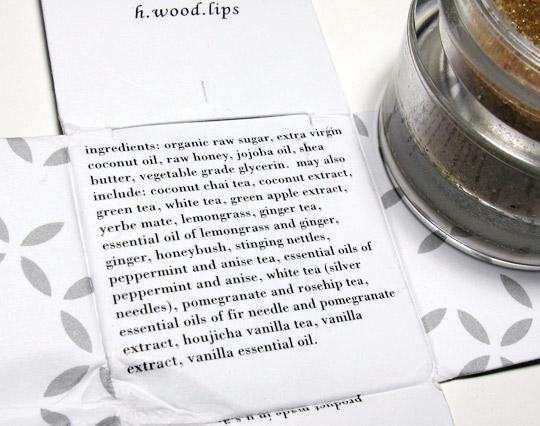 Hwood Beauty Lip Tea Scrub Review