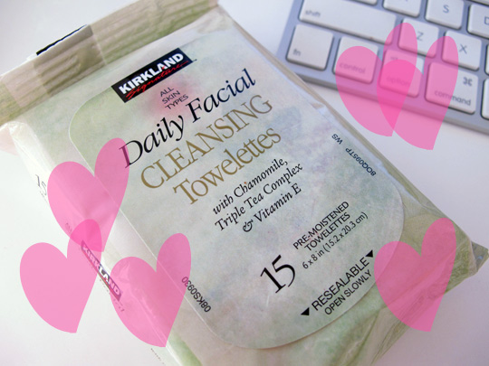 Kirkland daily facial cleansing towelettes review