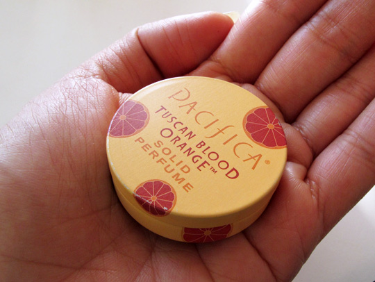 pacifica tuscan blood orange solid perfume review