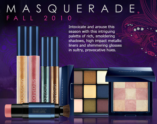 smashbox masquerade fall 2010 collection swatches review photos