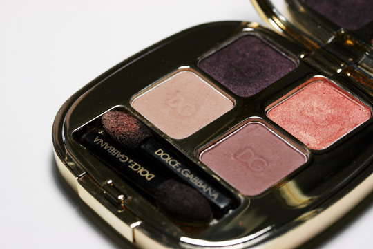 Dolce & Gabbana Sicilian Lace Fall 2010 swatches review nude quad open