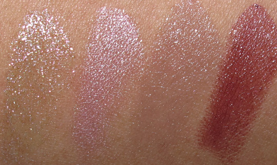 MAC Fabulous Felines Swatches Burmese Beauty Liquid Lurex Pet Me Please To Pamper Kittenish