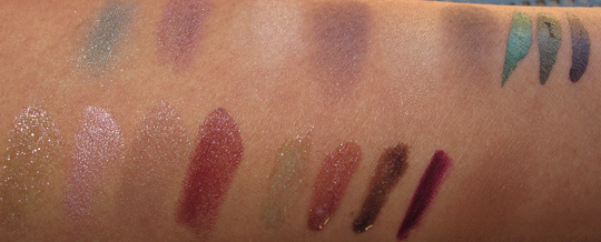 MAC Fabulous Felines Swatches Burmese Beauty all