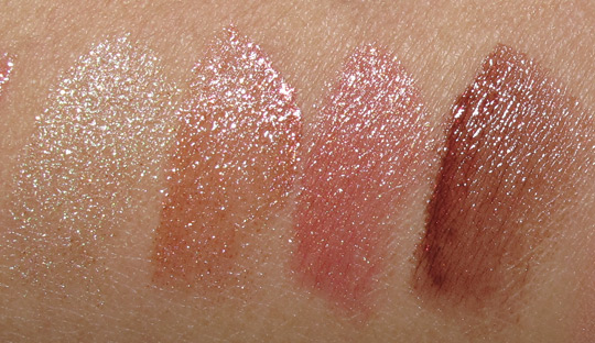 MAC Fabulous Felines Swatches Lipstick Out-Minxed Powerful Drive Me Wild The Prowl