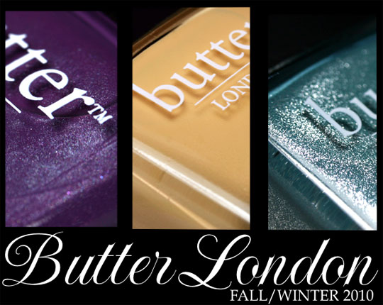 butter london fall 2010 swatches