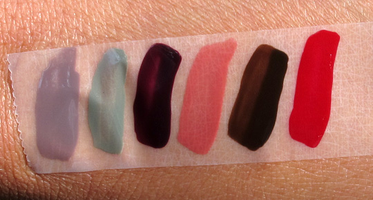 essie fall 2010 swatches on nc35 skin