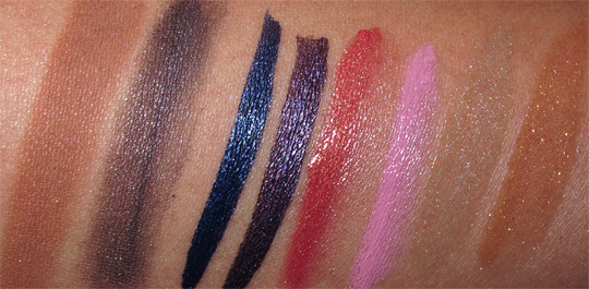 mac fabulous felines swatches