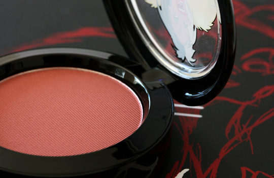 mac venomous villains review swatches photos cruella de vil powder blush darkly my dear open