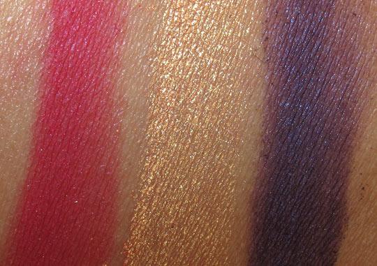 mac venomous villains review swatches photos dr facilier pigment swatches on nc35 skin