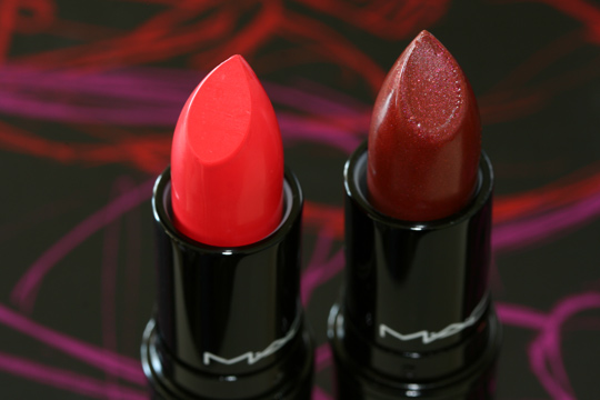 mac venomous villains review swatches photos evil queen lipsticks open