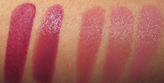 nars pure matte lipstick swatches review volga