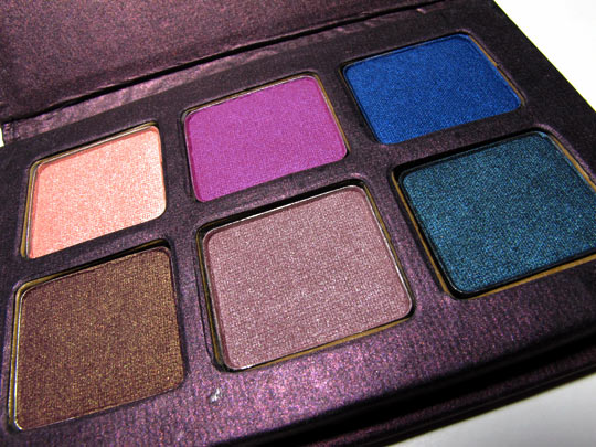 stila backstage eye shadow palette swatches review