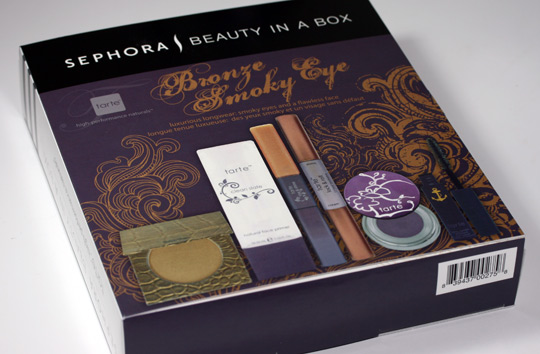 tarte beauty in a box bronze smoky eye swatches review