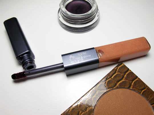 tarte beauty in a box bronze smoky eye swatches review rise shine