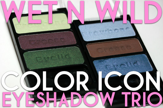 wet n wild color icon trio review