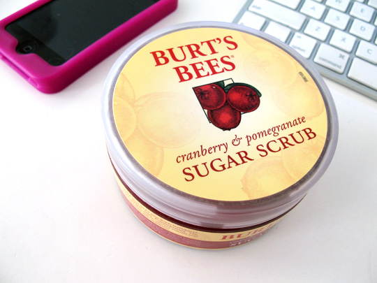 burts bees cranberry pomegranate sugar scrub