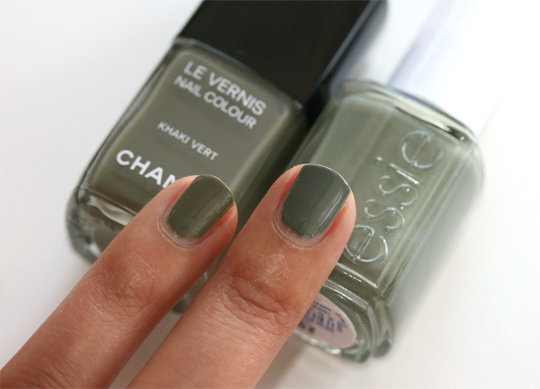 chanel les khaki de chanel swatches review photos khaki vert essie comparison