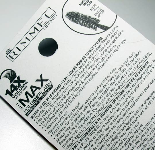 rimmel max volume flash waterproof mascara review back