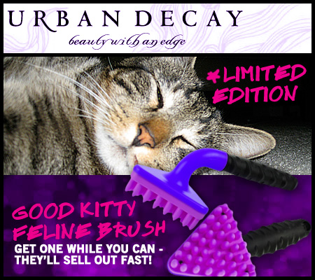 Tabs for the Urban Decay Good Kitty Cat Brush