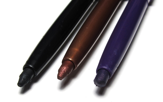 tarte emphaseyes aqua-gel liner review pencils closeup