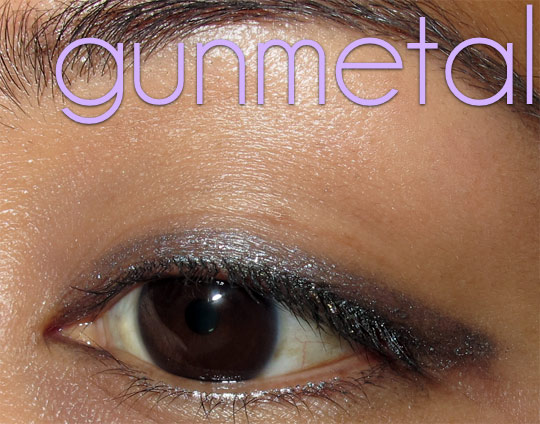 urban decay 24 7 jackpot swatches review gunmetal