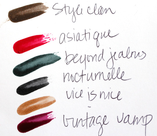 MAC a tartan tale holiday 2010 swatches pictures photos Nail Lacquer in Style Clan